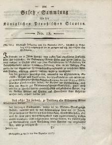 Gesetz-Sammlung für die Königlichen Preussischen Staaten, 6. Dezember 1817, nr. 18.