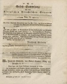 Gesetz-Sammlung für die Königlichen Preussischen Staaten, 11. Juni 1818, nr. 6.