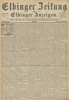 Elbinger Zeitung und Elbinger Anzeigen, Nr. 149 Donnerstag 30. Juni 1887