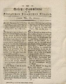 Gesetz-Sammlung für die Königlichen Preussischen Staaten, 20. Oktober 1818, nr. 11.