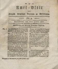 Amts-Blatt der Königlich Preußischen Regierung zu Marienwerder, 24. Januar 1817, No. 4.
