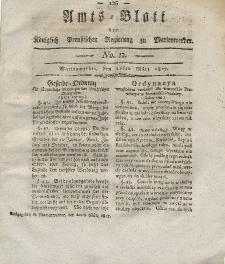 Amts-Blatt der Königlich Preußischen Regierung zu Marienwerder, 21. März 1817, No. 12.