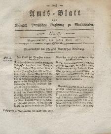 Amts-Blatt der Königlich Preußischen Regierung zu Marienwerder, 25. April 1817, No. 17.