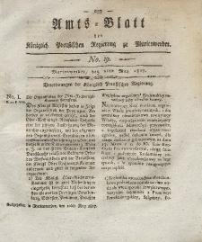 Amts-Blatt der Königlich Preußischen Regierung zu Marienwerder, 9. Mai 1817, No. 19.