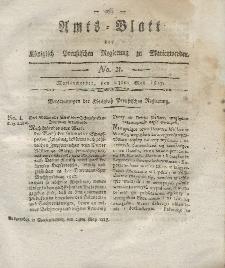 Amts-Blatt der Königlich Preußischen Regierung zu Marienwerder, 23. Mai 1817, No. 21.