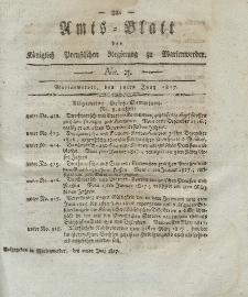 Amts-Blatt der Königlich Preußischen Regierung zu Marienwerder, 20. Juni 1817, No. 25.
