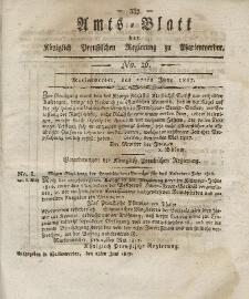 Amts-Blatt der Königlich Preußischen Regierung zu Marienwerder, 27. Juni 1817, No. 26.