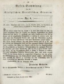 Gesetz-Sammlung für die Königlichen Preussischen Staaten, 19. Januar 1844, nr. 4.