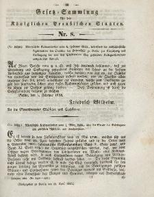 Gesetz-Sammlung für die Königlichen Preussischen Staaten, 18. April 1844, nr. 8.