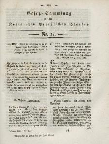 Gesetz-Sammlung für die Königlichen Preussischen Staaten, 26. Juni 1844, nr. 17.