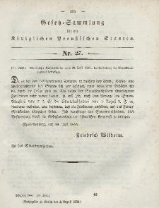 Gesetz-Sammlung für die Königlichen Preussischen Staaten, 2. August 1844, nr. 27.