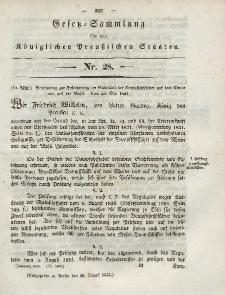 Gesetz-Sammlung für die Königlichen Preussischen Staaten, 10. August 1844, nr. 28.