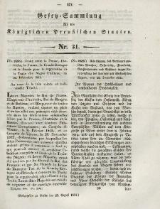 Gesetz-Sammlung für die Königlichen Preussischen Staaten, 28. August 1844, nr. 31.