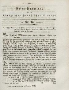 Gesetz-Sammlung für die Königlichen Preussischen Staaten, 9. September 1844, nr. 32.