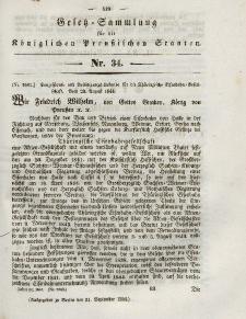 Gesetz-Sammlung für die Königlichen Preussischen Staaten, 21. September 1844, nr. 34.