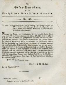 Gesetz-Sammlung für die Königlichen Preussischen Staaten, 30. September 1844, nr. 35.