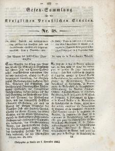 Gesetz-Sammlung für die Königlichen Preussischen Staaten, 7. November 1844, nr. 38.