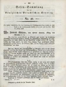 Gesetz-Sammlung für die Königlichen Preussischen Staaten, 30. November 1844, nr. 40.