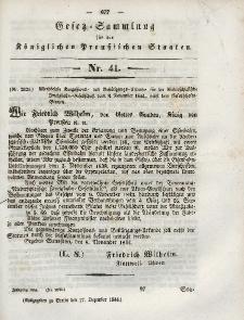 Gesetz-Sammlung für die Königlichen Preussischen Staaten, 17. Dezember 1844, nr. 41.