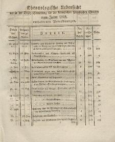 Gesetz-Sammlung für die Königlichen Preussischen Staaten (Chronologische Uebersicht), 1819