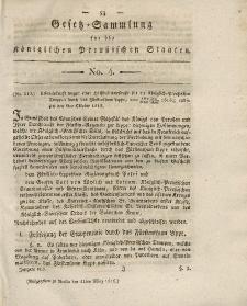 Gesetz-Sammlung für die Königlichen Preussischen Staaten, 11. März 1819, nr. 4.