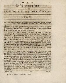 Gesetz-Sammlung für die Königlichen Preussischen Staaten, 1. Mai 1819, nr. 9.