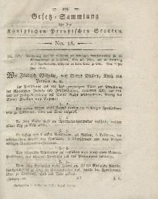 Gesetz-Sammlung für die Königlichen Preussischen Staaten, 24. August 1819, nr. 18.