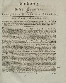 Gesetz-Sammlung für die Königlichen Preussischen Staaten (Anhang + Beilage), 1819