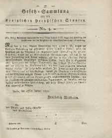 Gesetz-Sammlung für die Königlichen Preussischen Staaten, 15. Februar 1820, nr. 4.