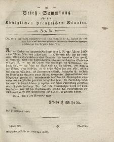 Gesetz-Sammlung für die Königlichen Preussischen Staaten, 11. April 1820, nr. 5.