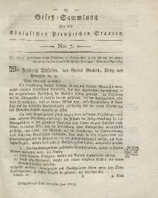 Gesetz-Sammlung für die Königlichen Preussischen Staaten, 13. Juni 1820, nr. 7.