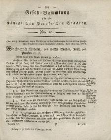Gesetz-Sammlung für die Königlichen Preussischen Staaten, 27. Juni 1820, nr. 10.