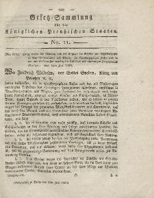 Gesetz-Sammlung für die Königlichen Preussischen Staaten, 6. Juli 1820, nr. 11.