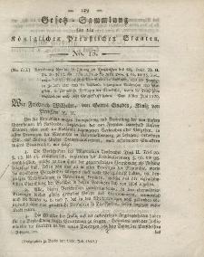 Gesetz-Sammlung für die Königlichen Preussischen Staaten, 15. Juli 1820, nr. 13.