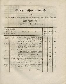 Gesetz-Sammlung für die Königlichen Preussischen Staaten (Chronologische Uebersicht), 1821