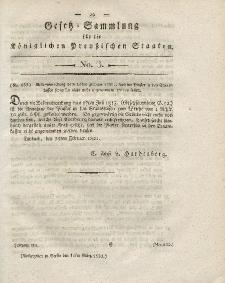 Gesetz-Sammlung für die Königlichen Preussischen Staaten, 15. März 1821, nr. 3.