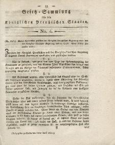 Gesetz-Sammlung für die Königlichen Preussischen Staaten, 10. April 1821, nr. 4.