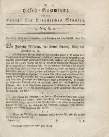 Gesetz-Sammlung für die Königlichen Preussischen Staaten, 28. Juni 1821, nr. 8.