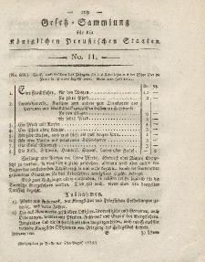 Gesetz-Sammlung für die Königlichen Preussischen Staaten, 4. August 1821, nr. 11.
