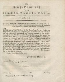 Gesetz-Sammlung für die Königlichen Preussischen Staaten, 13. September 1821, nr. 13.