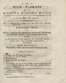 Gesetz-Sammlung für die Königlichen Preussischen Staaten, 1. November 1821, nr. 15.