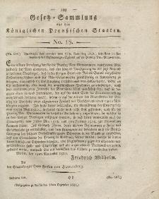 Gesetz-Sammlung für die Königlichen Preussischen Staaten, 11. Dezember 1821, nr. 18.