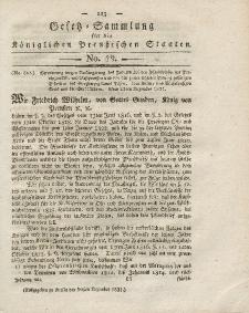 Gesetz-Sammlung für die Königlichen Preussischen Staaten, 20. Dezember 1821, nr. 19.