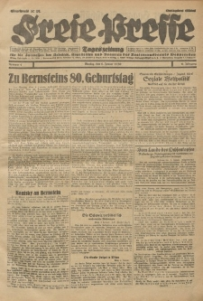 Freie Presse, Nr. 4 Montag 6. Januar 1930 6. Jahrgang