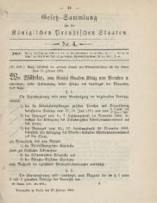 Gesetz-Sammlung für die Königlichen Preussischen Staaten, 27. Februar 1885, nr. 4.
