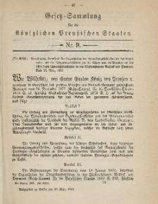 Gesetz-Sammlung für die Königlichen Preussischen Staaten, 30. März 1885, nr. 9.