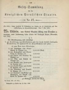 Gesetz-Sammlung für die Königlichen Preussischen Staaten, 13. Mai 1885, nr. 17.