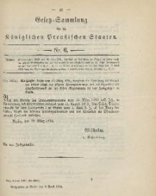 Gesetz-Sammlung für die Königlichen Preussischen Staaten, 9. April 1894, nr. 6.