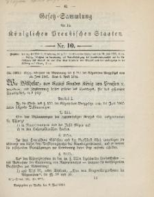 Gesetz-Sammlung für die Königlichen Preussischen Staaten, 2. Mai 1894, nr. 10.
