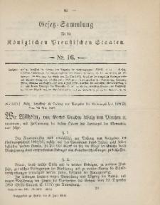 Gesetz-Sammlung für die Königlichen Preussischen Staaten, 9. Juni 1894, nr. 16.